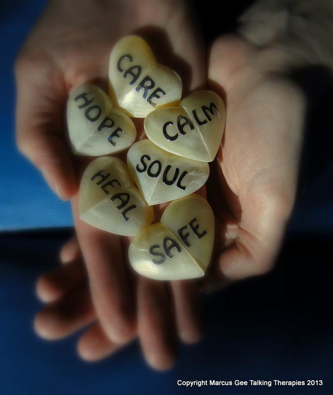 Care Calm Soul Safe Heal Hope